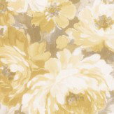 Albany Flower Damask Yellow Wallpaper