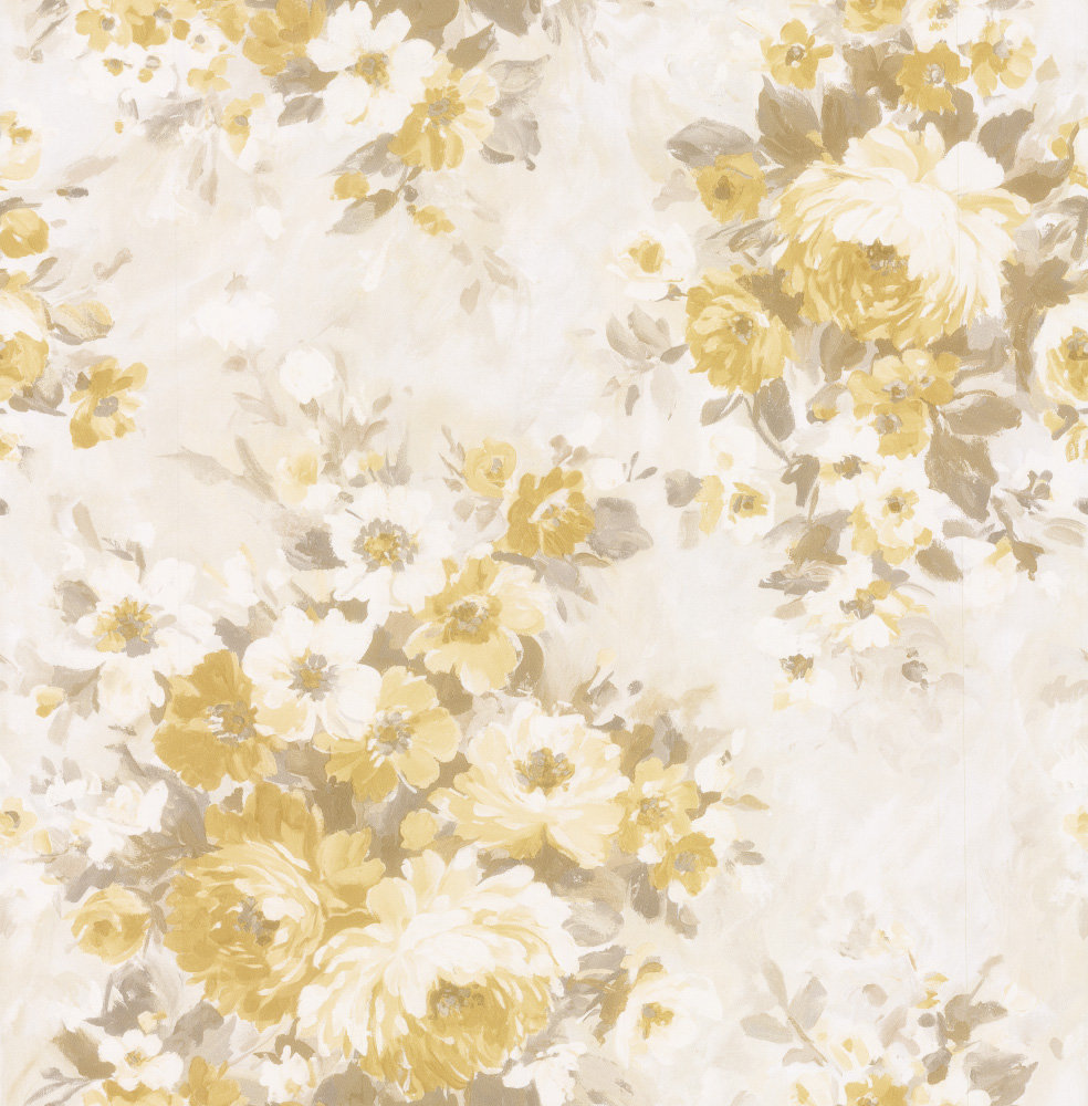 Albany Flower Damask Yellow Wallpaper - Product code: 21603