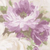 Albany Paint Effect Flowers Purple Wallpaper