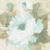 Albany Paint Effect Flowers Blue Wallpaper