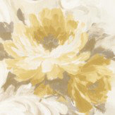 Albany Paint Effect Flowers Yellow Wallpaper