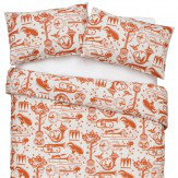 Mini Moderns Pet Sounds Double Duvet Harvest Orange Duvet Cover