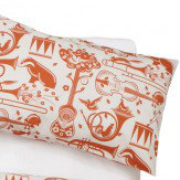 Mini Moderns Pet Sounds Pillowcases- Pair Harvest Orange