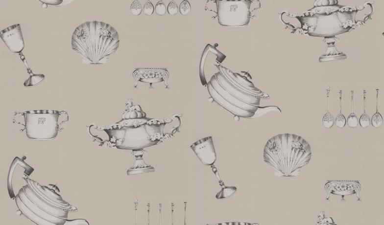 Image of Mulberry Home Wallpapers Family Silver, FG058A22