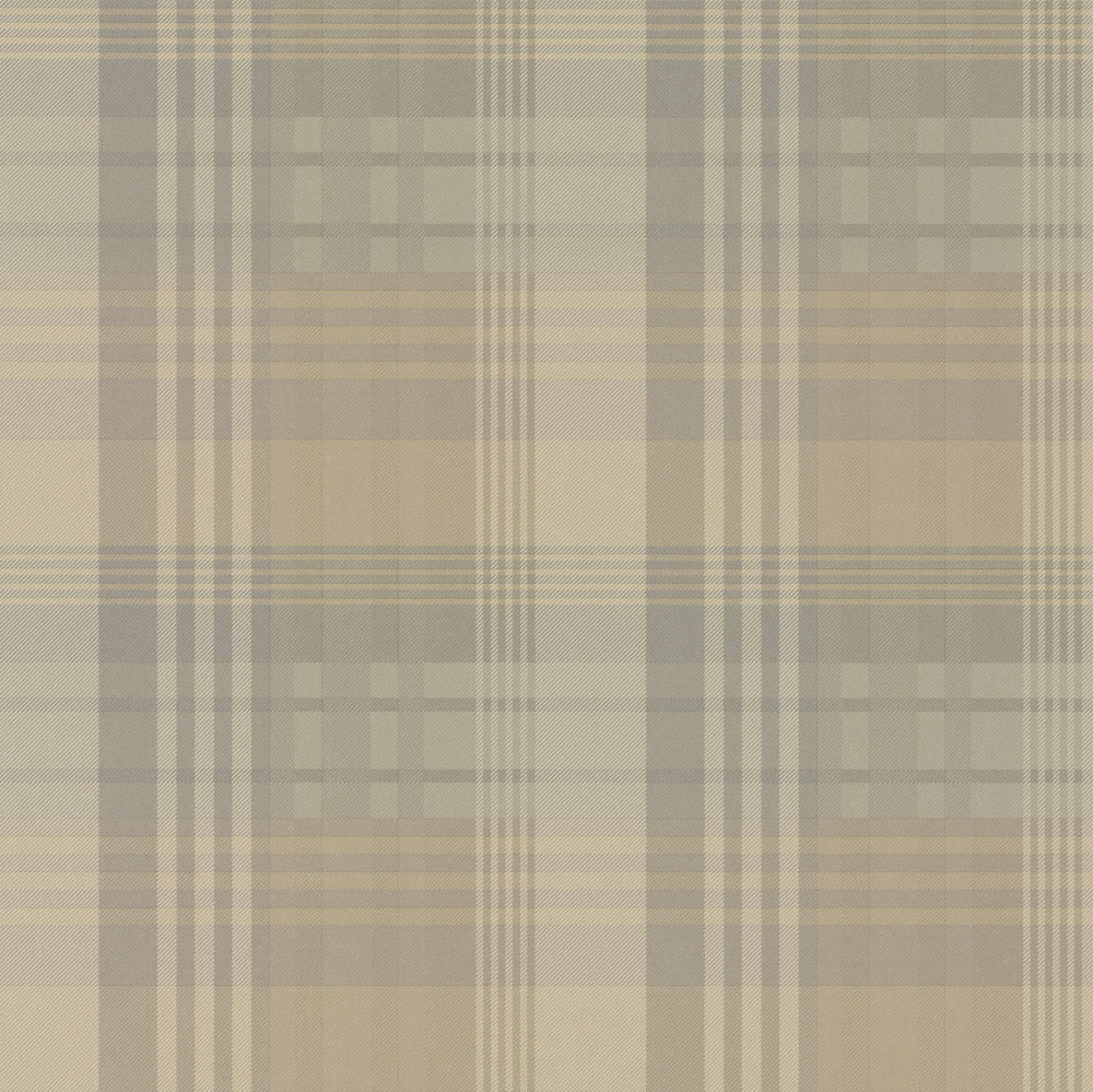 Mulberry Home Mulberry Ancient Tartan Ivory / Dove Wallpaper - Product code: FG079J102