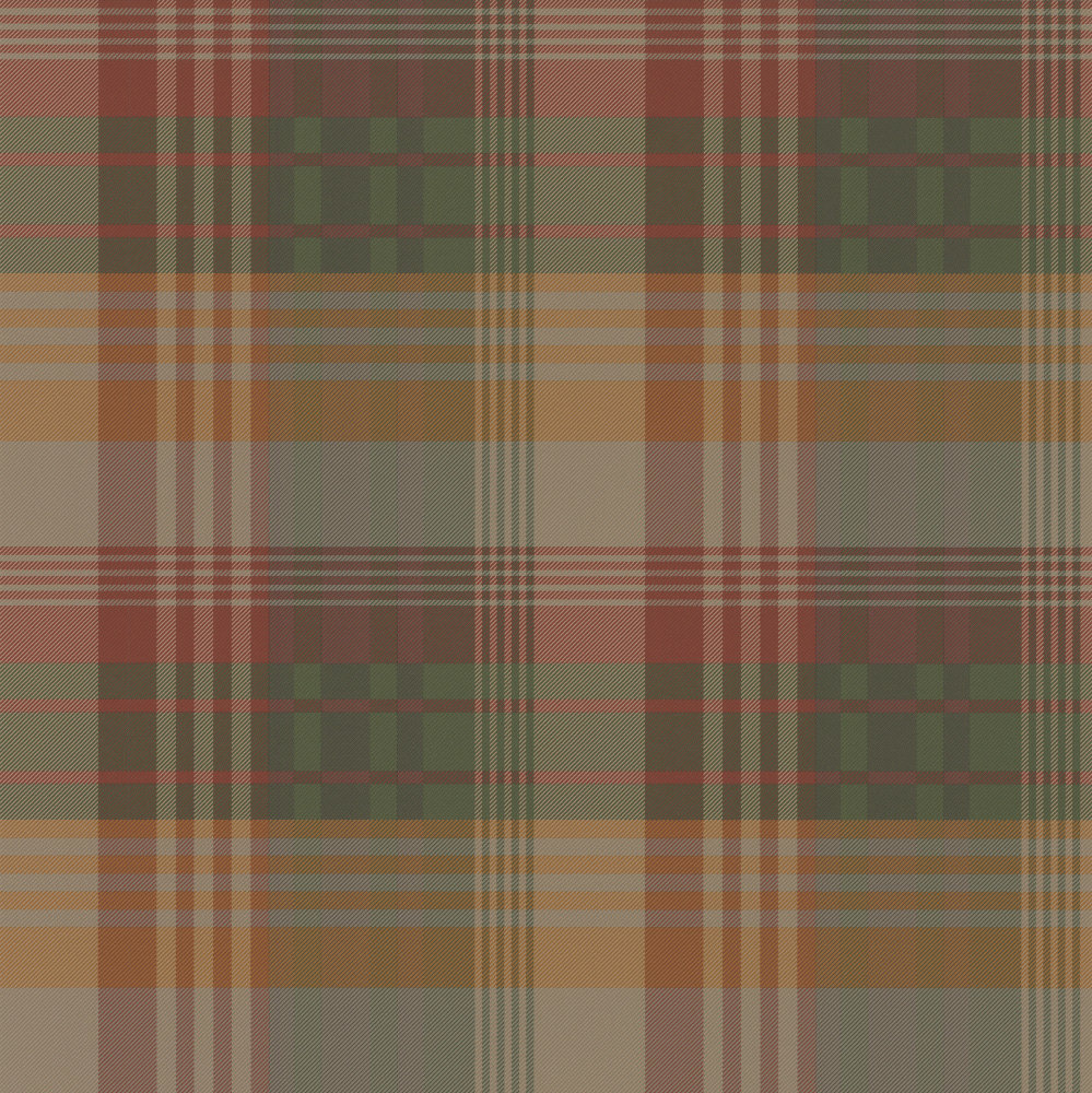 Mulberry Home Ancient Tartan Spice Wallpaper Main Image