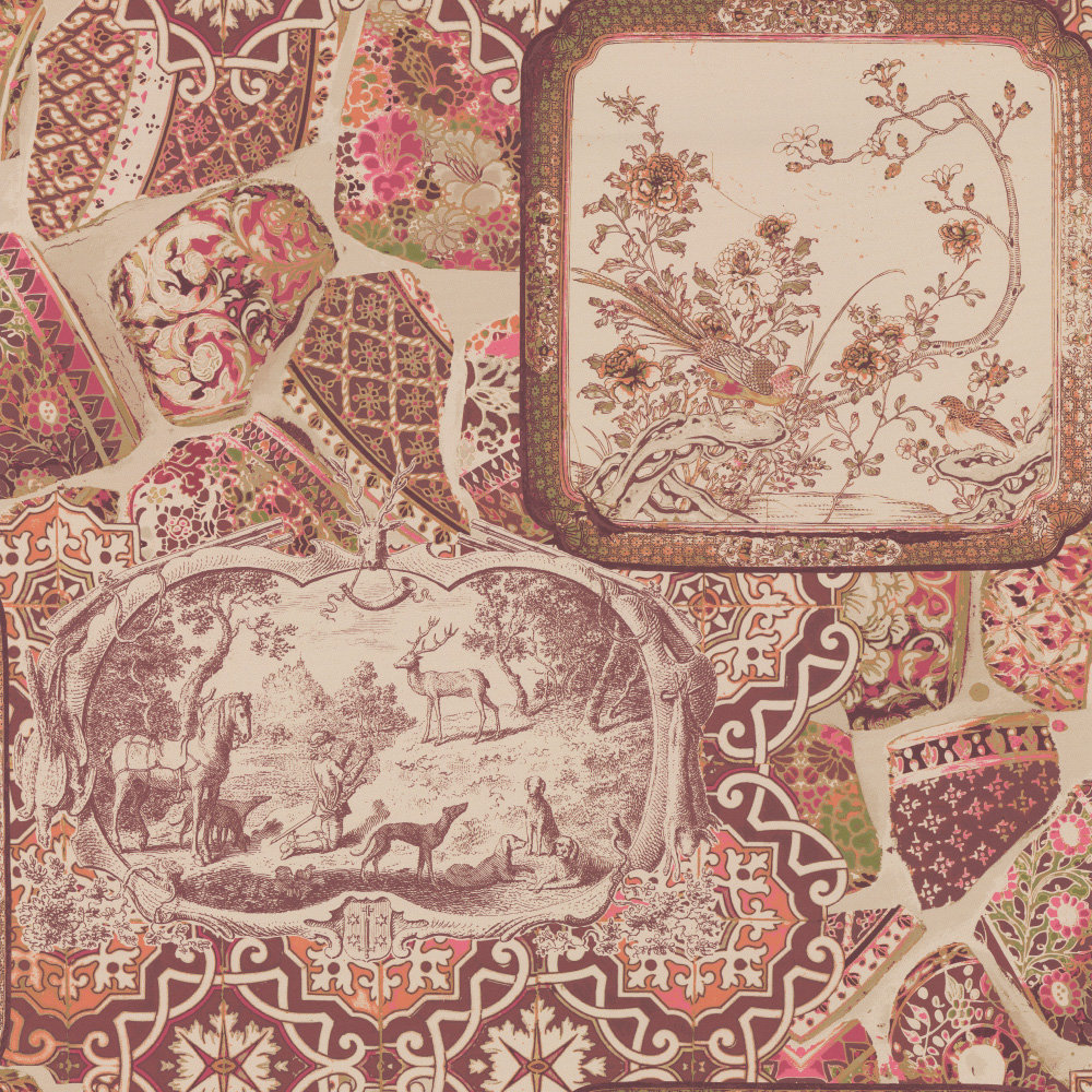 Mulberry Home Mulberry China Spice / Plum Wallpaper - Product code: FG080V54