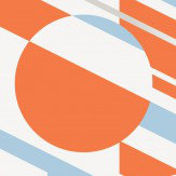 Mini Moderns P.L.U.T.O Tangerine and Dream Silver  Wallpaper