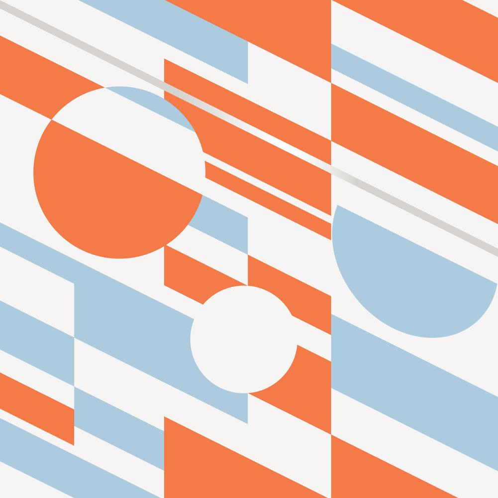 Mini Moderns P.L.U.T.O Tangerine and Dream Silver  Wallpaper - Product code: AZDPT027TD