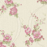 Albany Rachele Pink / Cream Wallpaper