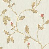 Albany Lia Red Cotton Wallpaper