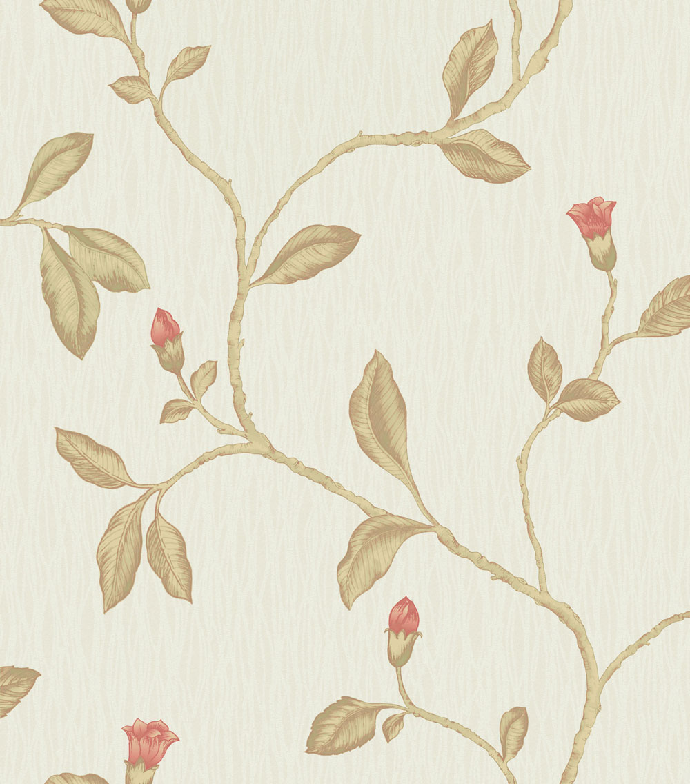 Albany Lia Red Cotton Wallpaper - Product code: 35173