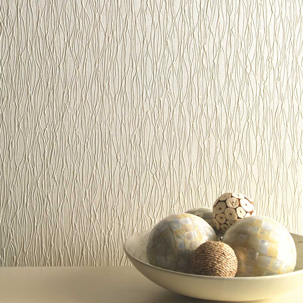 Siena Texture Wallpaper - Cream - by Albany