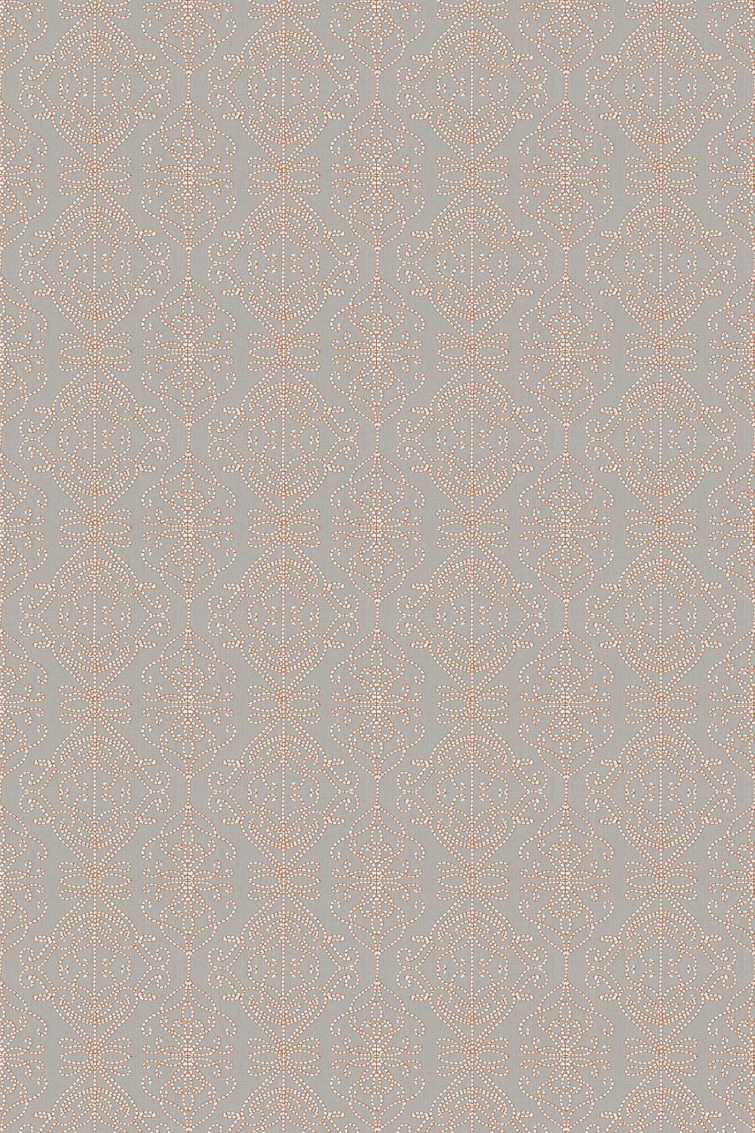 Java Fabric - Stone / Papaya - by Harlequin