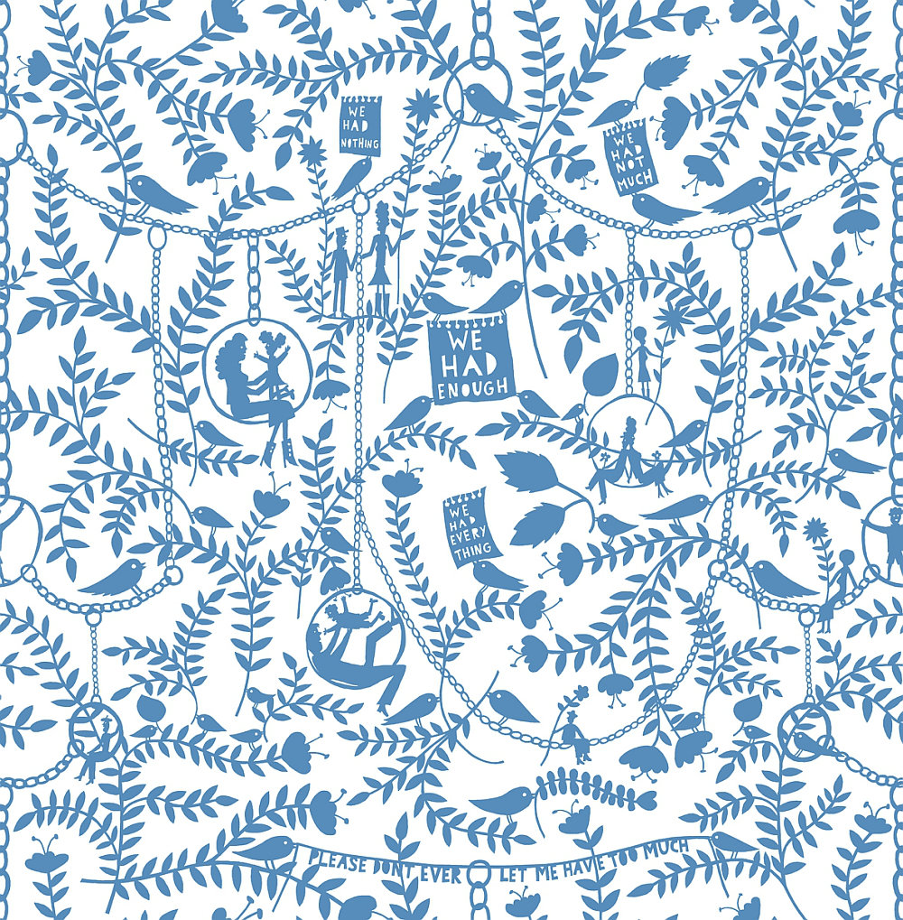 Mini Moderns We Had Everything China Blue Wallpaper Main Image