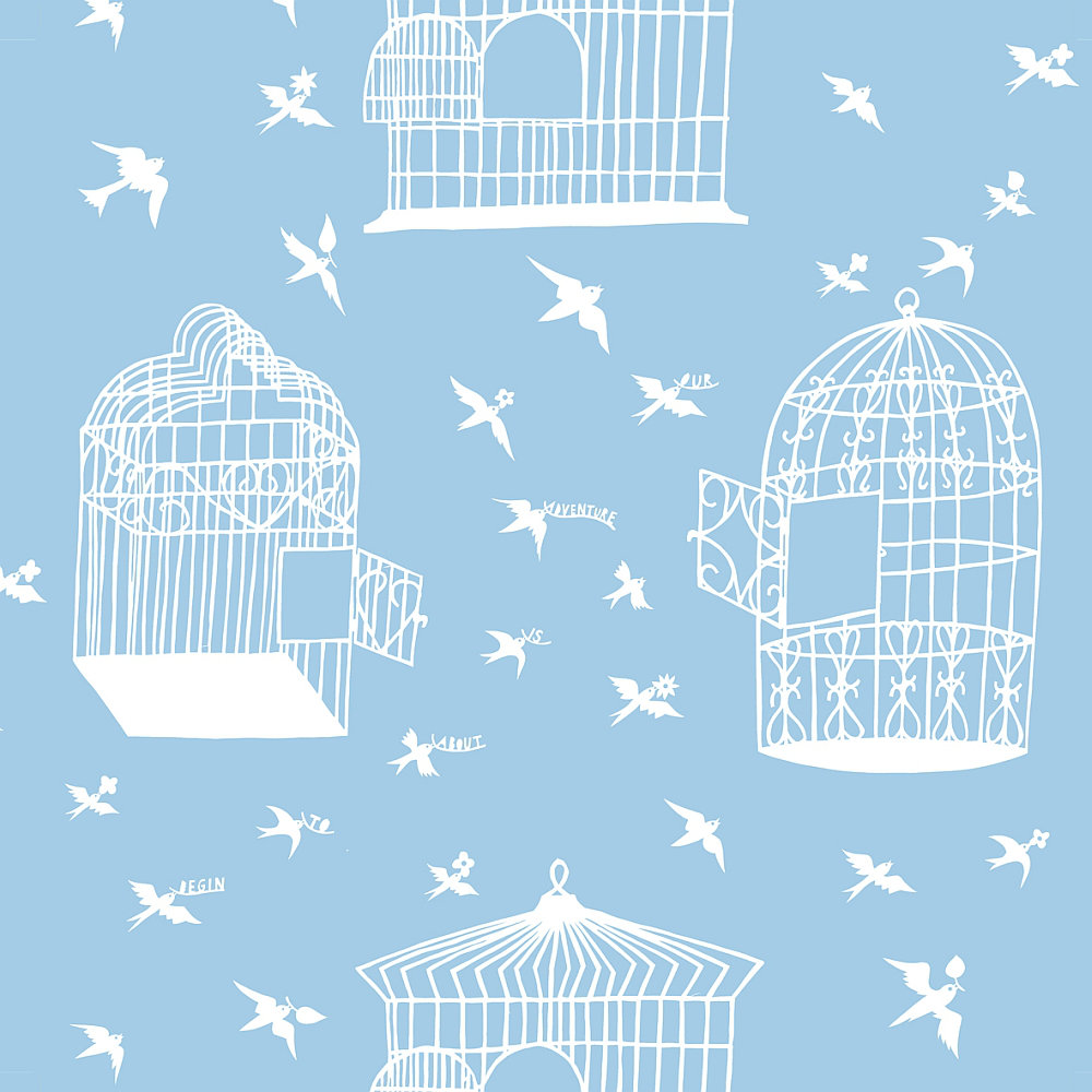 Mini Moderns Our Adventure Sky Blue Wallpaper main image
