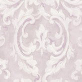 Albany Scrolling Plaster Effect Lilac Wallpaper