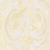 Albany Scrolling Plaster Effect Yellow Wallpaper