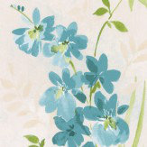 Albany Spring Meadow Blue Wallpaper