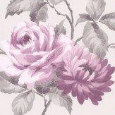 Albany Stylised Rose Mulberry Wallpaper