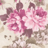 Albany Floral Spruce Mulberry Wallpaper