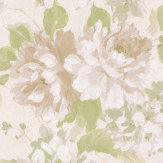 Albany Floral Spruce White Wallpaper