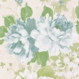 Albany Floral Spruce Duck Egg Wallpaper