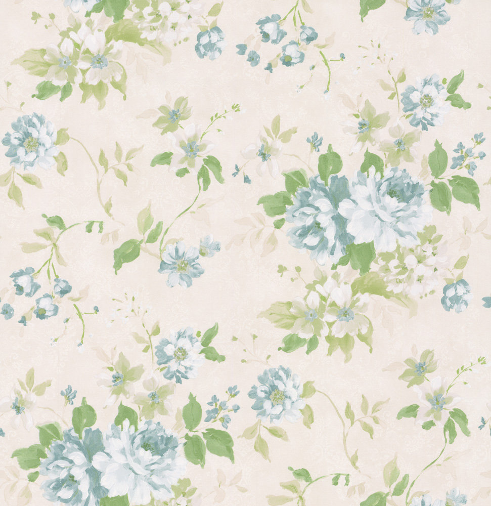 Albany Floral Spruce Duck Egg Wallpaper - Product code: 21616