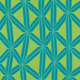 Harlequin Rumbia Lagoon / Gooseberry Fabric