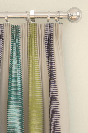 Harlequin Tambo Zest/Indigo/Emerald Curtains