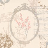 Albany Edwardian Notes Rose Pink Wallpaper
