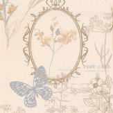 Albany Edwardian Notes Silver Grey Wallpaper