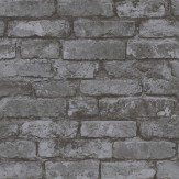 Albany Town Brick Black Wallpaper