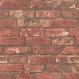Albany Town Brick Red Wallpaper