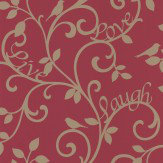 Albany Love Tree Red / Gold Wallpaper