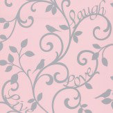 Albany Love Tree Pink Wallpaper