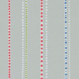 Sanderson Abacus Stripe Grey / Multi Wallpaper