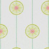 Sanderson Tambourine Lime and Fuchsia Wallpaper