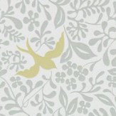 Sanderson Larksong Dove / Honey Wallpaper