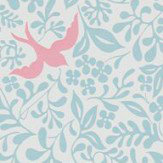 Sanderson Larksong Powder Blue / Pink Wallpaper
