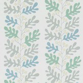 Sanderson Malmo Dove / Teal Wallpaper