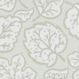 Sanderson Jewel Leaves Neutral / Gilver Wallpaper