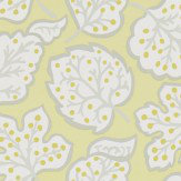 Sanderson Jewel Leaves Cadmium / Dove Wallpaper
