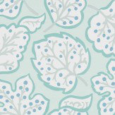 Sanderson Jewel Leaves Mineral / Blue Wallpaper