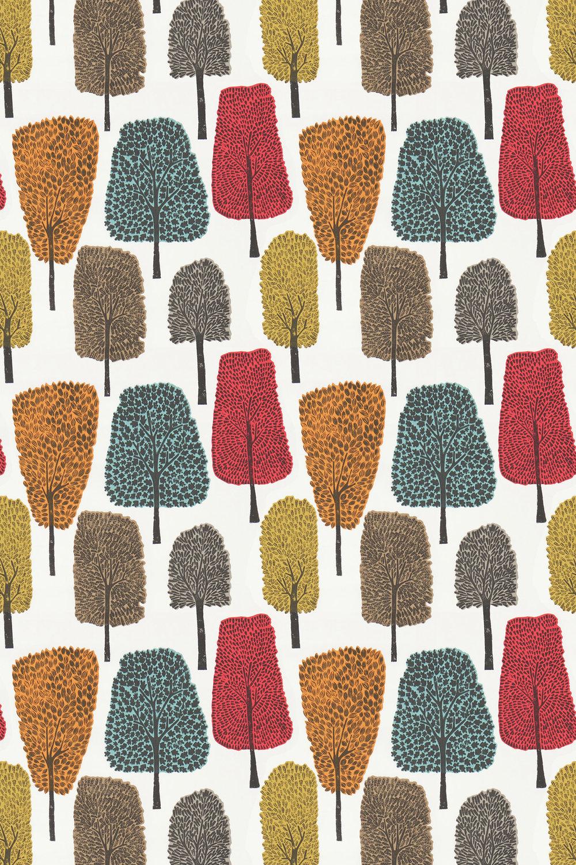 Cedar Fabric - Tangerine, Sulphur and Chilli - by Scion