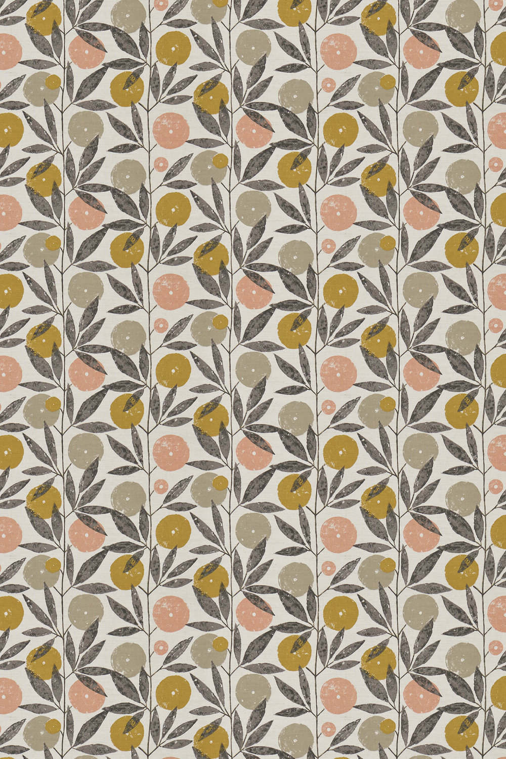 Blomma Fabric - Toffee, Blush and Putty - by Scion