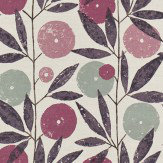 Scion Blomma Heather, Damson and Stone Fabric - Product code: 120360