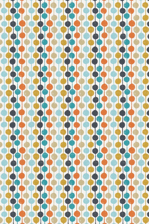 Taimi Fabric - Sulphur, Tangerine and Kingfisher - by Scion