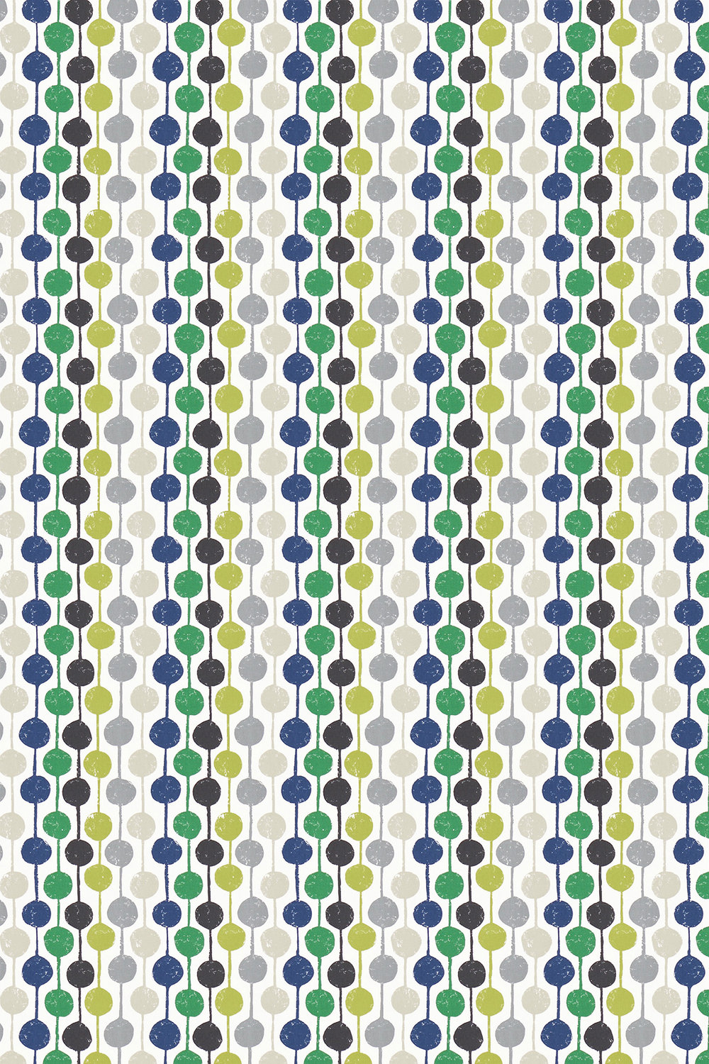 Taimi Fabric - Apple, Ivory and Slate - by Scion