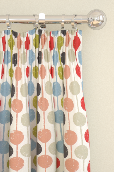 Scion Taimi Kiwi, Poppy and Charcoal Curtains - Product code: 120364